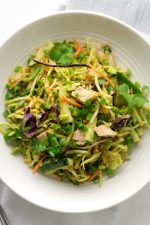Thai peanut chicken salad in an easy keto recipe to make for lunch or keto meal prep. Healthy, full of veggies, and easy to make.