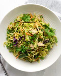 Keto Chicken Salad with Thai Peanut Dressing