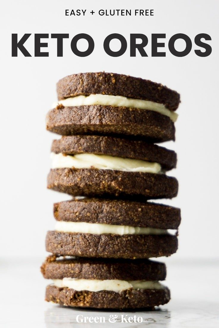 stack of keto oreos that are easy to make and gluten free