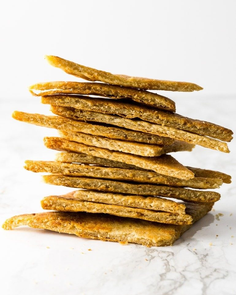 crunch keto tortilla chip stack