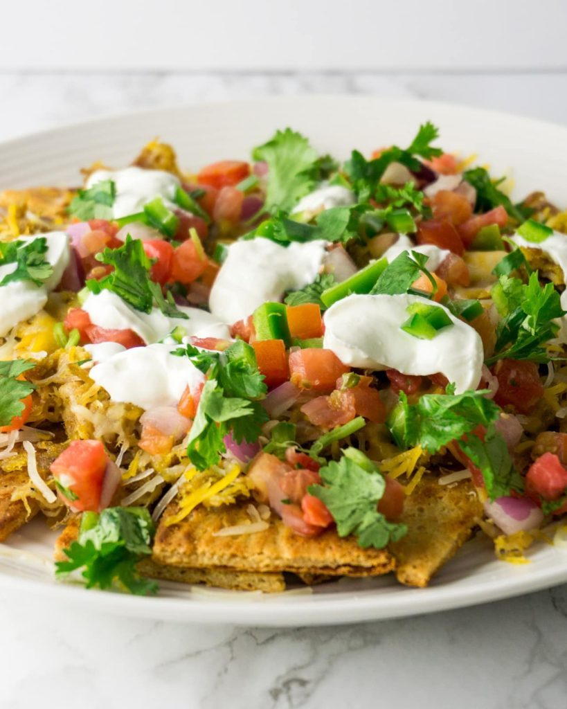 nachos with low carb tortilla chips