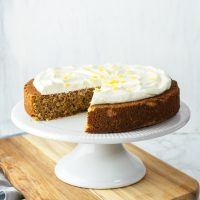 Keto Gingerbread Cake with Lemon Cream Cheese Frosting