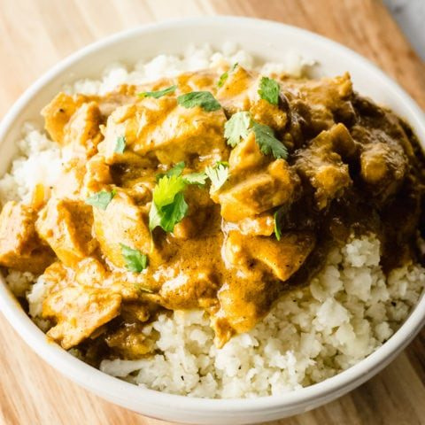 Keto Coconut Curry Chicken
