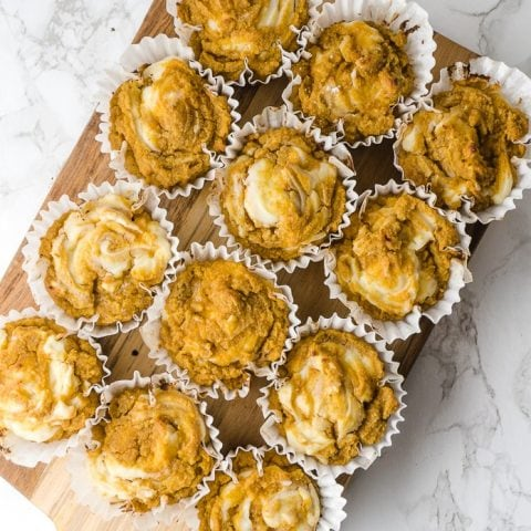 Keto Pumpkin Cream Cheese Muffins