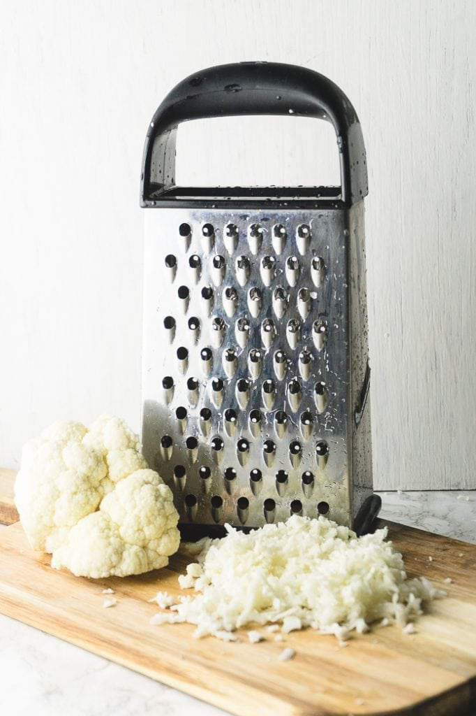 how to make cauliflower rice with a grater