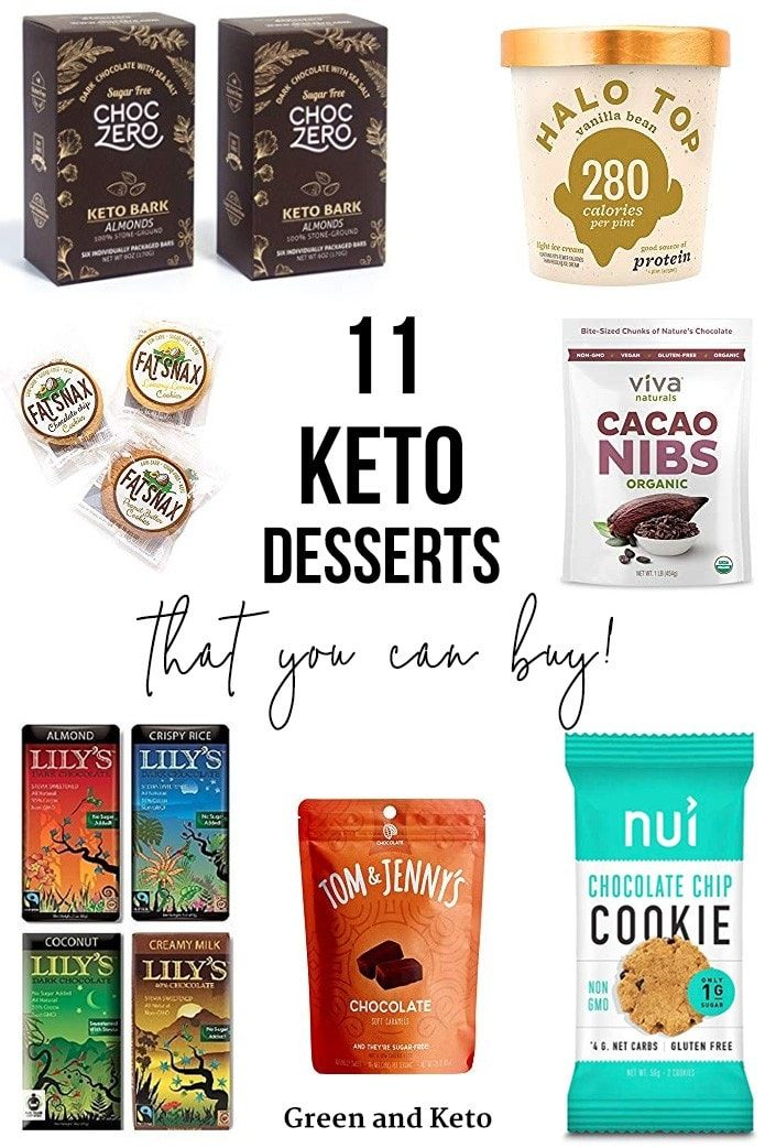 11+ Best Keto Desserts to Buy - Green and Keto