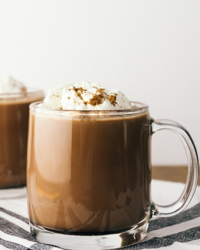 low carb hot chocolate with whipped cream