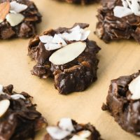 Keto No-Bake Cookies with Coconut and Almonds