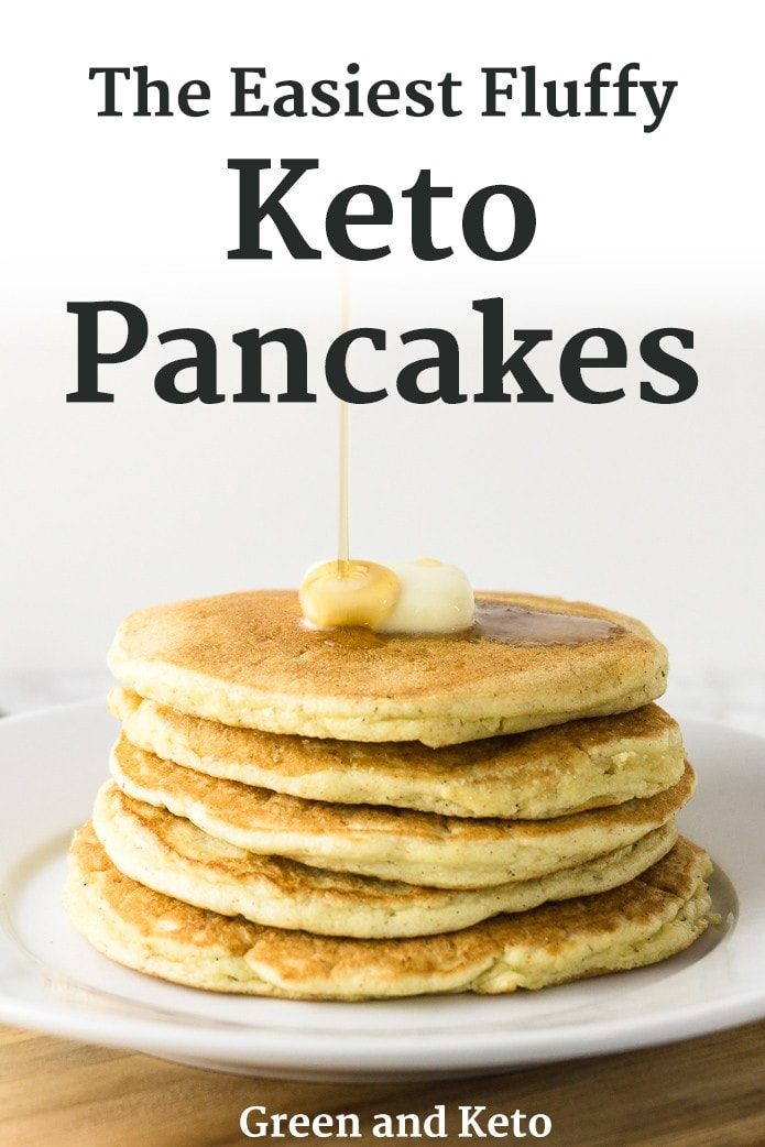 Fluffy Keto Pancakes made with Coconut Flour - Green and Keto