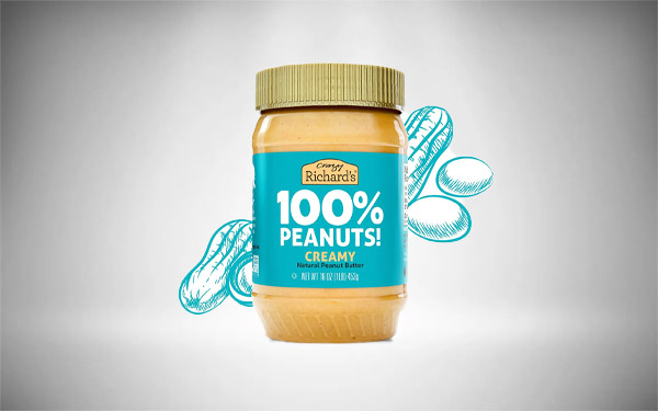 Crazy Richard's Creamy Peanut Butter, 100% Natural, Non-GMO, Gluten-Free