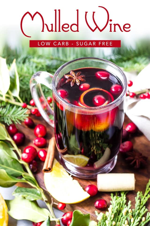 keto mulled wine drink