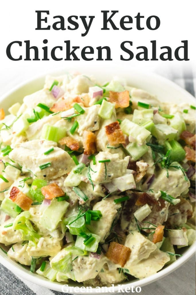 Easy Keto Chicken Salad with Bacon