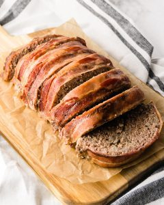 Easy Keto Meatloaf with Bacon