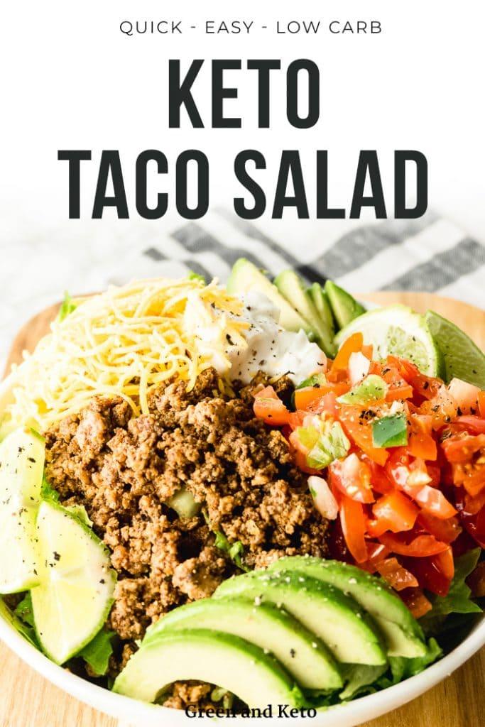 Keto Taco Salad Recipe