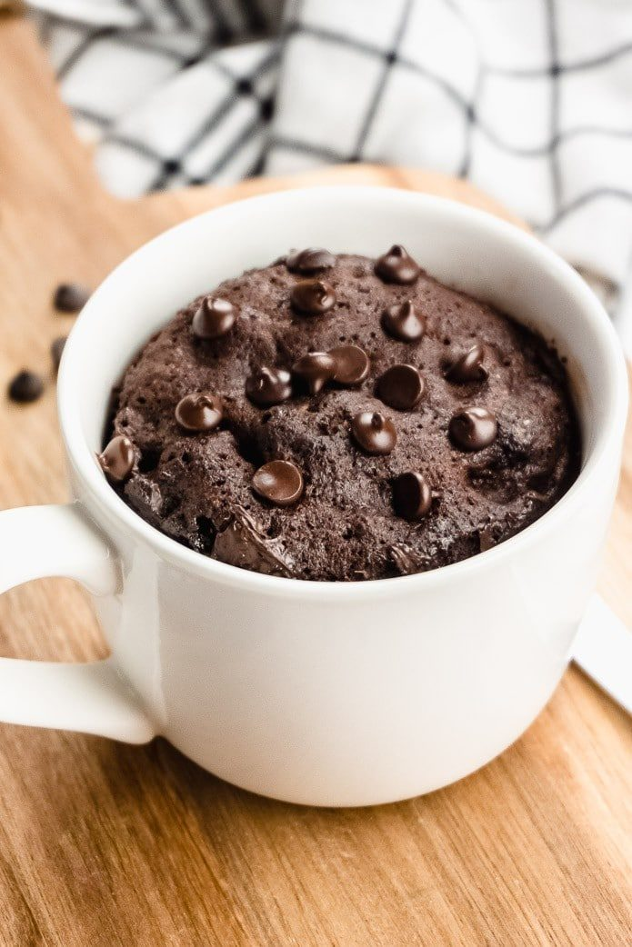 Keto Chocolate Mug Cake 2 Minute Recipe Green And Keto