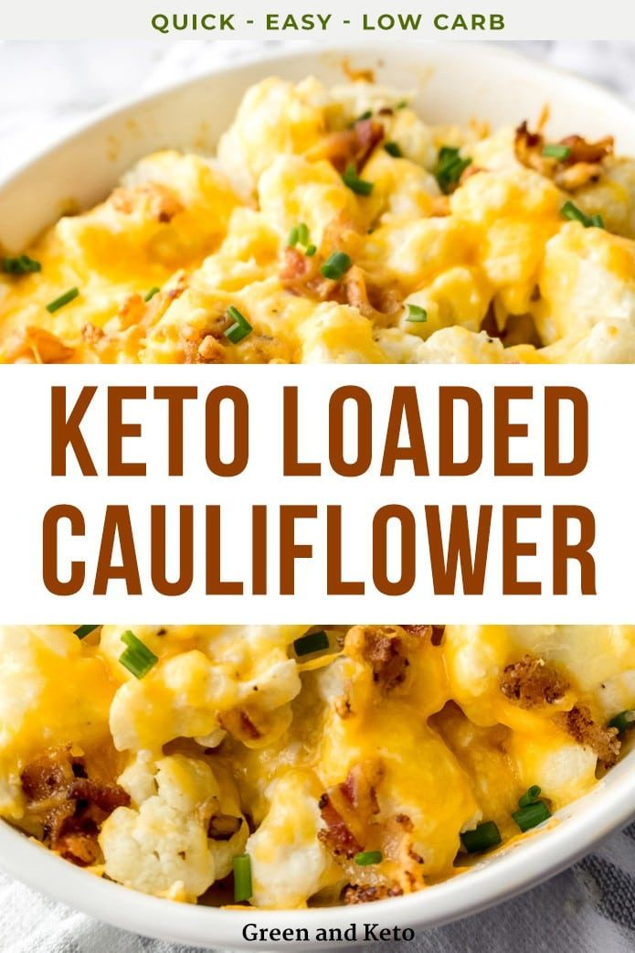 keto cauliflower casserole with bacon and cheese