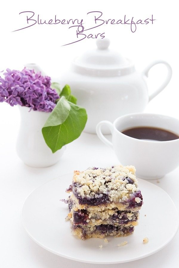 Blueberry Breakfast Bars - Low Carb