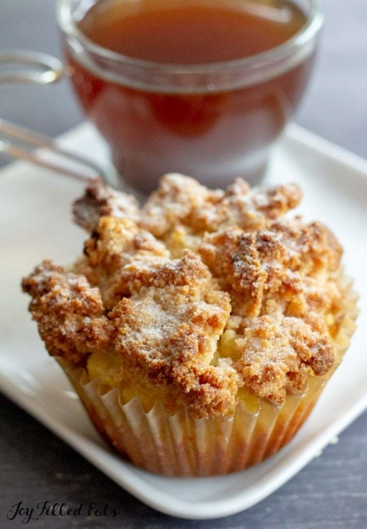 Coffee Cake Muffins – Low Carb, Keto, Gluten-Free, THM