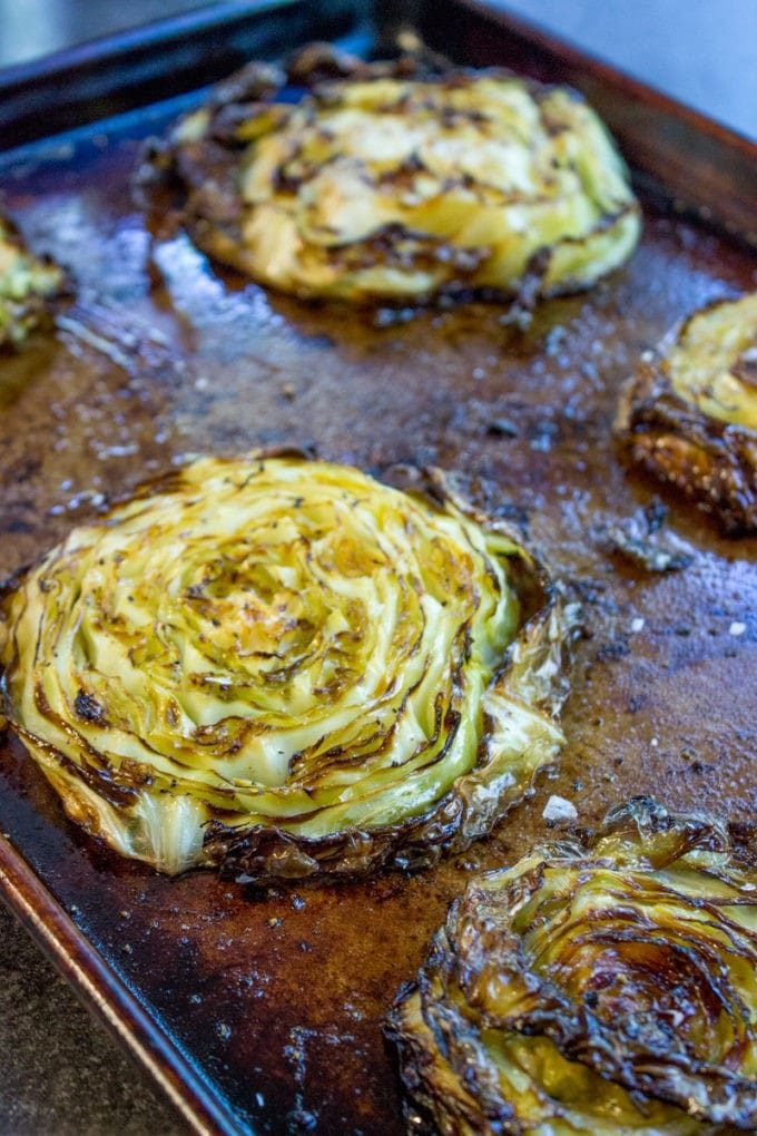 Crispy Roasted Cabbage Steaks