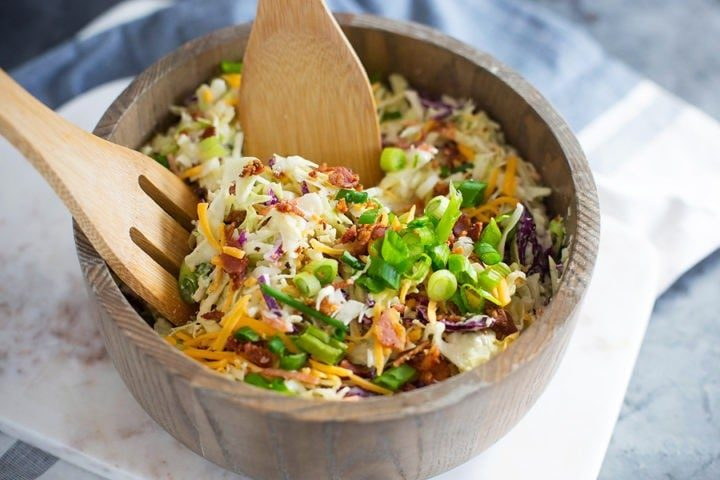 Loaded Keto Coleslaw