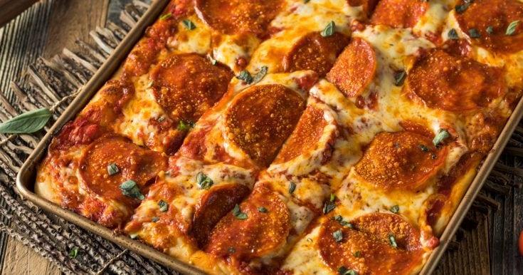 Keto Pizza Bread - Pulls Apart