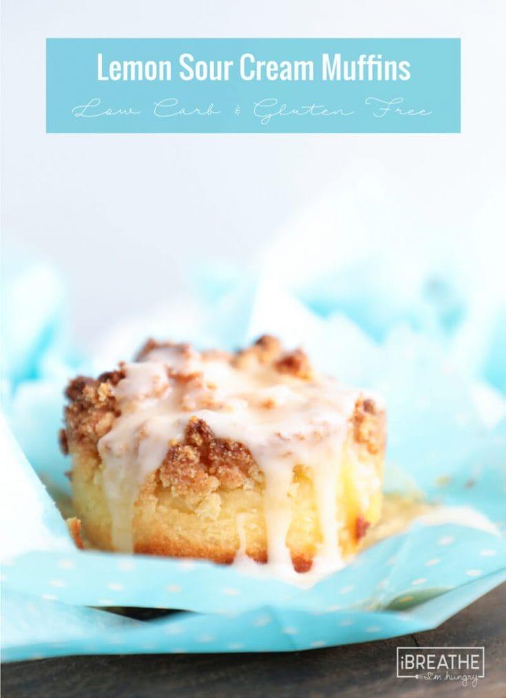 Keto Lemon Sour Cream Muffins - Low Carb
