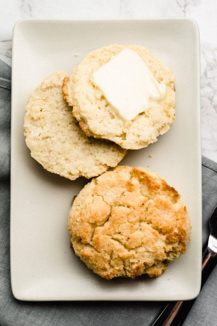 almond flour keto biscuits with butter