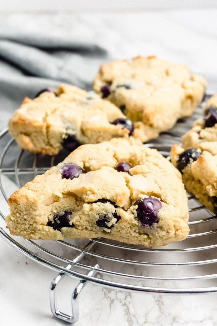 keto blueberry scones made with almond flour