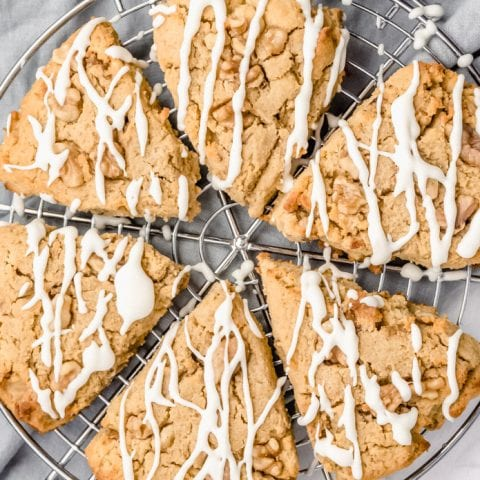 Keto Maple Walnut Scones