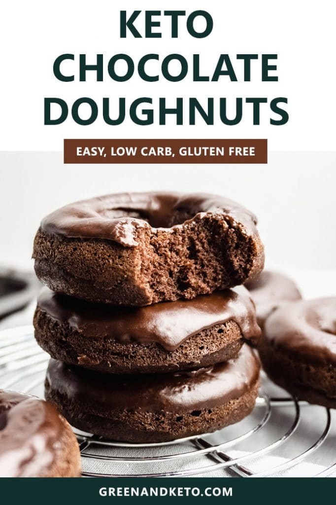 Keto Chocolate Donuts with Chocolate Glaze