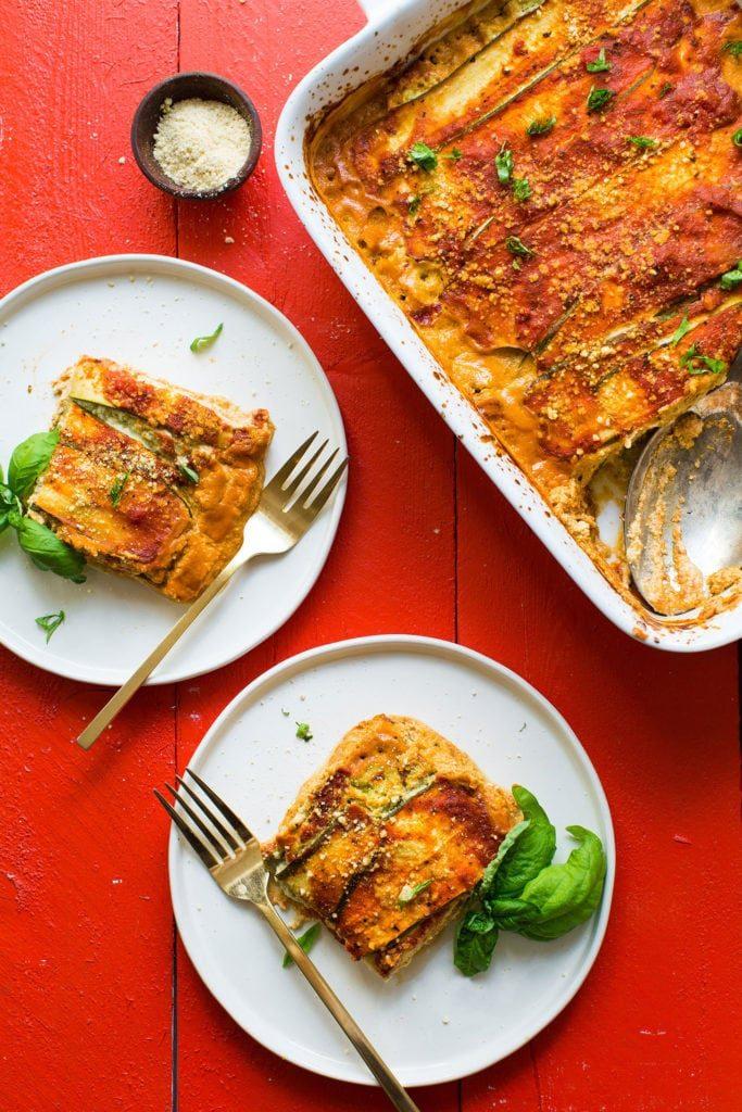 Vegan Gluten-Free Zucchini Lasagna