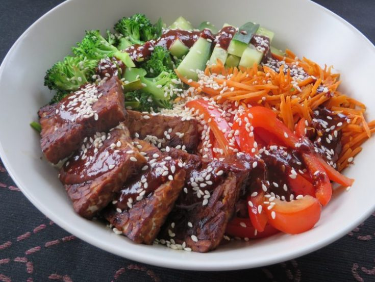 Low carb vegan bibimbap