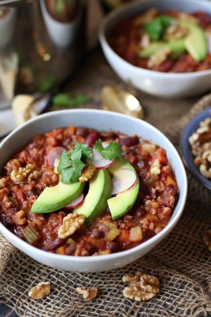 Vegan Keto Walnut Chili | Gluten Free Low Carb Dinner