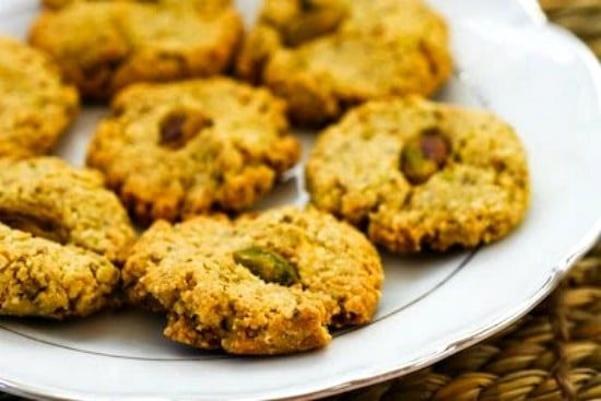 Four-Ingredient Flourless, Sugar-Free Pistachio Cookies