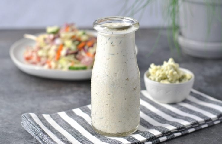 Creamy Chive Keto Blue Cheese Dressing