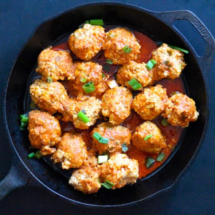 Instant Pot Buffalo Chicken Meatballs (Paleo, Whole30, Keto)