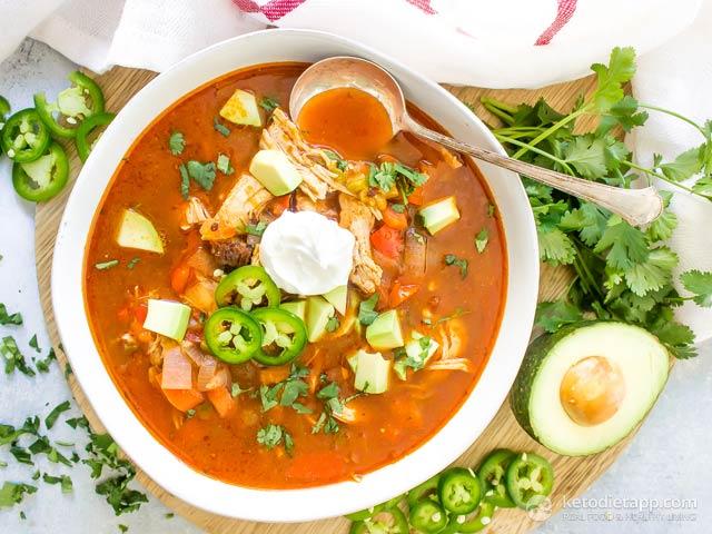 Keto Instant Pot Chicken Enchilada Soup