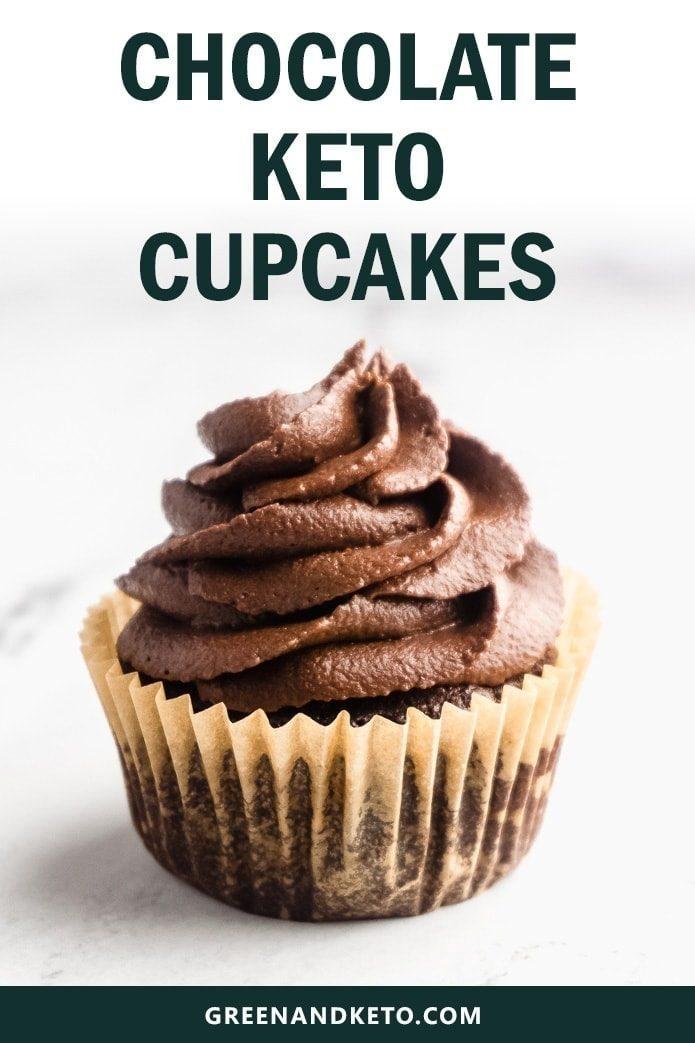 chocolate keto cupcakes