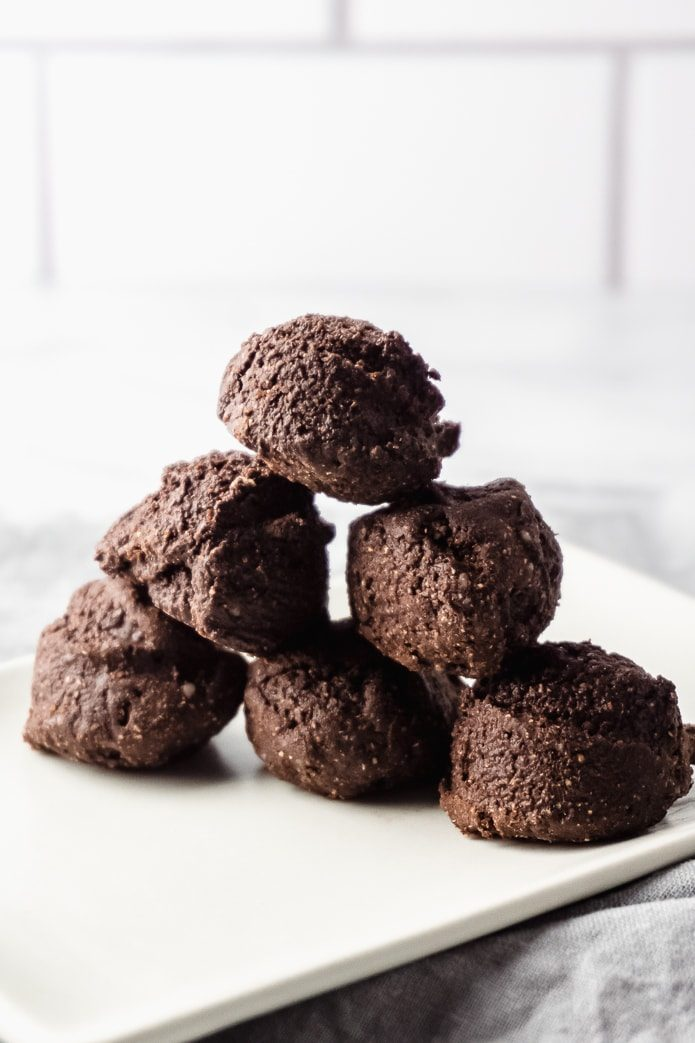 keto brownie fat bombs made with almond flour