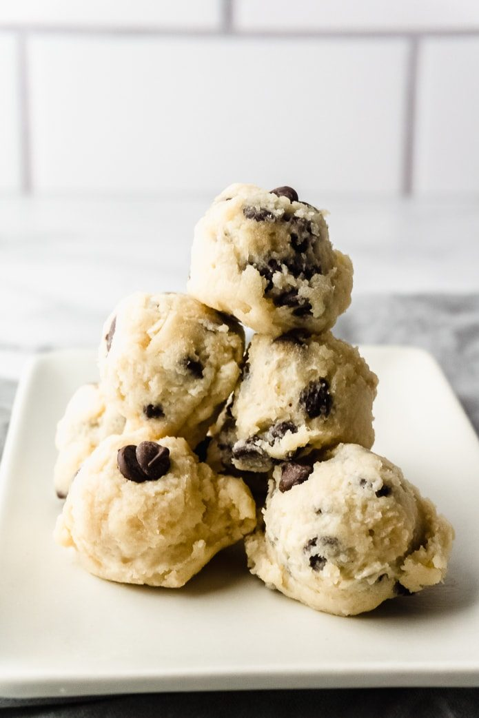 keto cookie dough bites are low-carb fat bombs