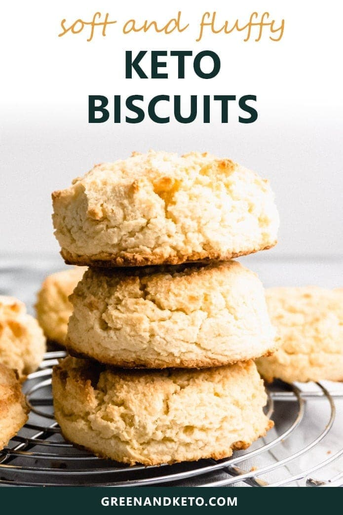 keto biscuits made wtih almond and coconut flour