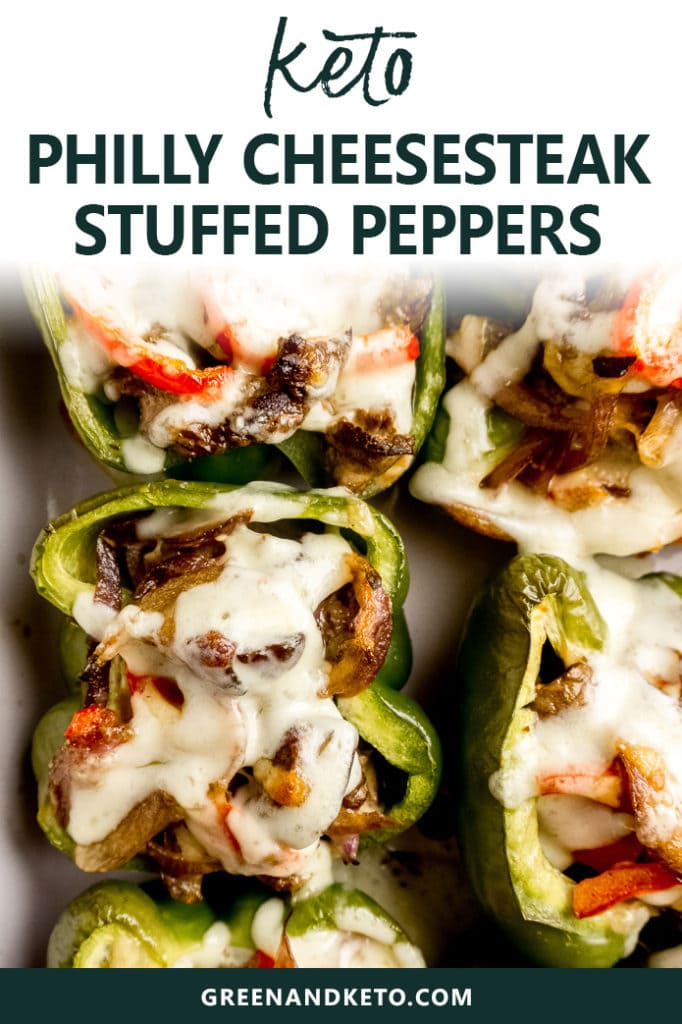 Easy Keto Philly Cheesesteak Stuffed Peppers