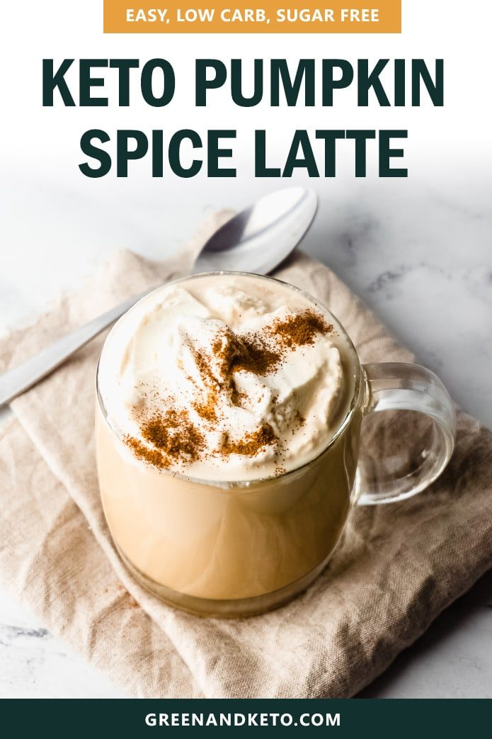 easy, low-carb, sugar-free keto pumpkin spice latte