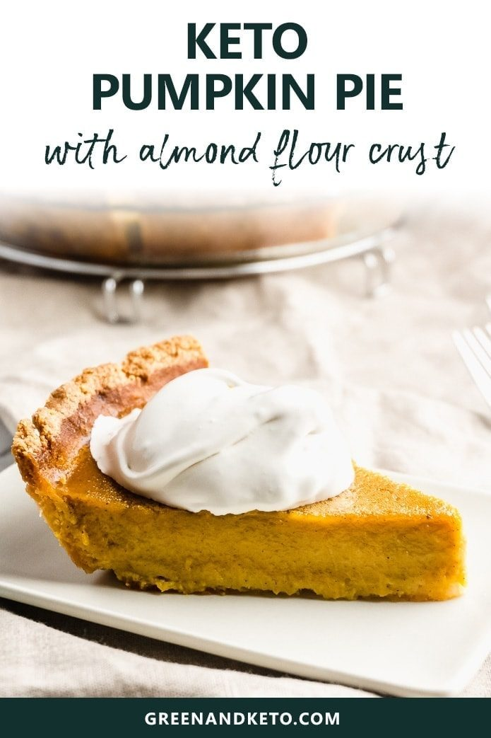 Keto Pumpkin Pie is the perfect low-carb dessert to make for Fall, Thanksgiving, or Christmas. Gluten-free and sugar-free, but so delicious even non-keto eaters will love it.
