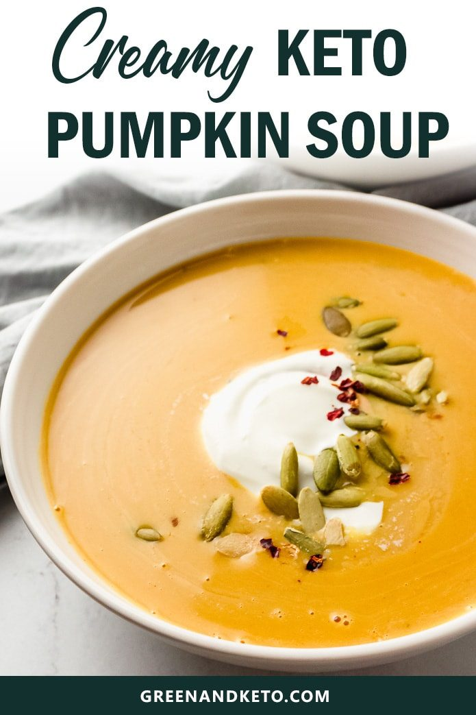 creamy keto pumpkin soup is low carb and gluten free