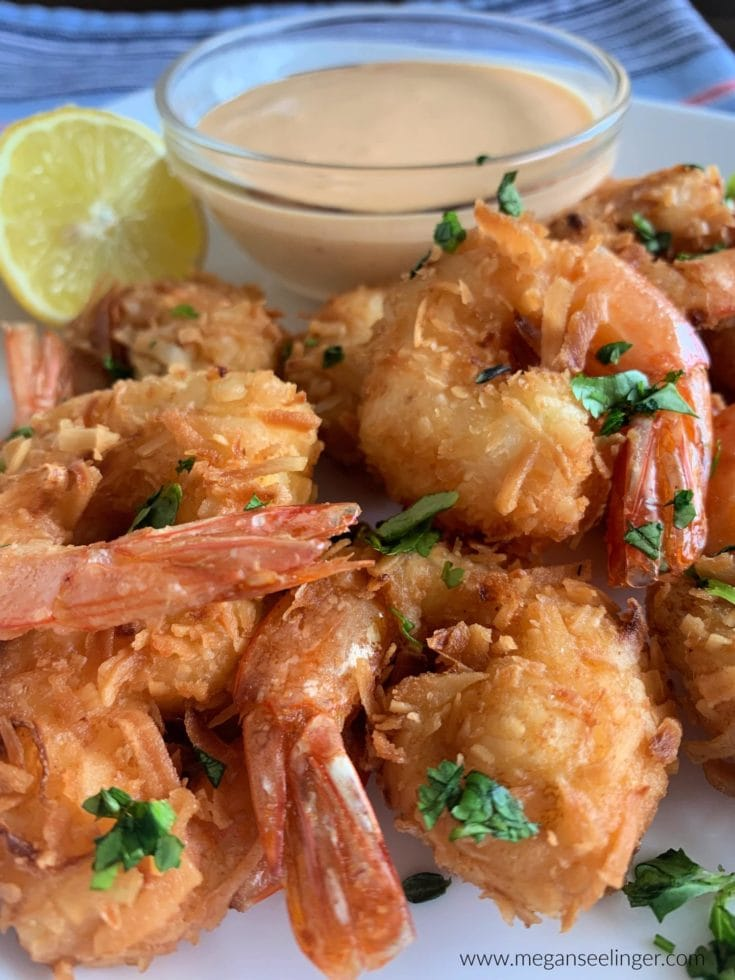 Easy Keto Fried Coconut Shrimp - Pan Fried or Air Fryer Shrimp