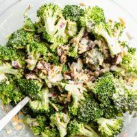 Easy Keto Broccoli Salad with Bacon
