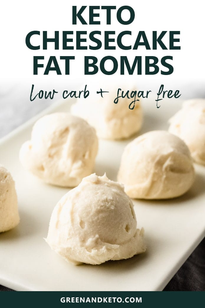Try thesevanilla cheesecake keto fat bombs for a delicious low-carb treat.  They're a no-bake, sugar-free, and gluten-free snack, too.