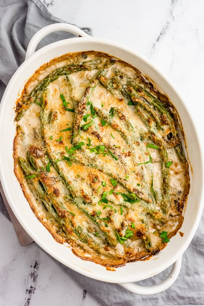 keto green bean casserole with gluten free topping