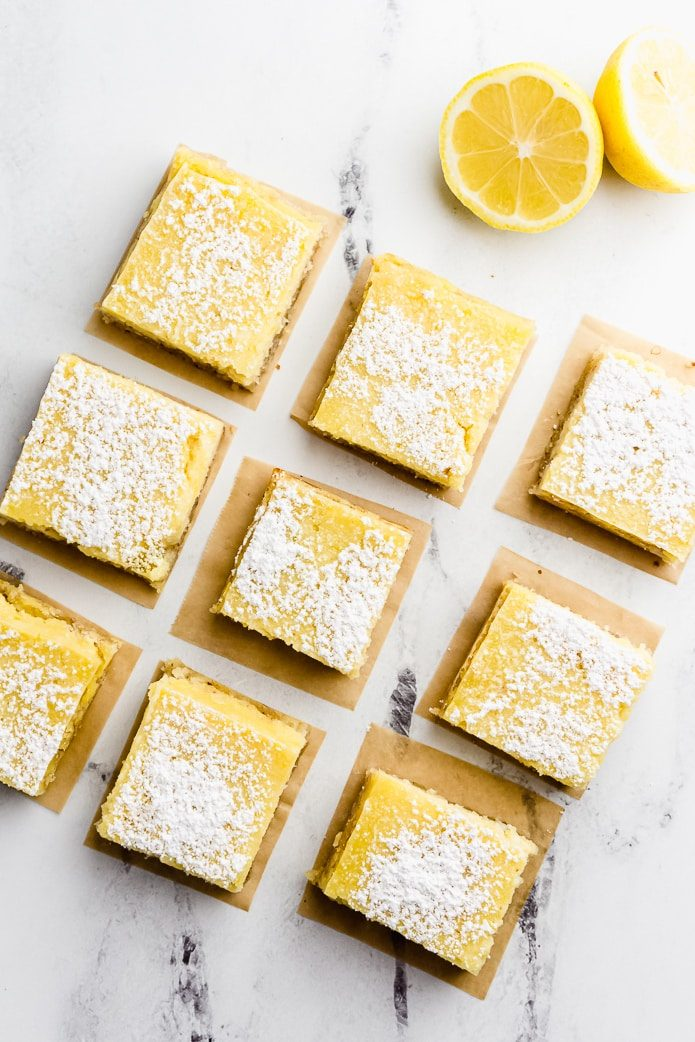 low-carb lemon bars with sugar-free filling